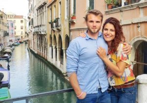 Deborah and Christian Ostmo ask each other questions in Venice, Italy