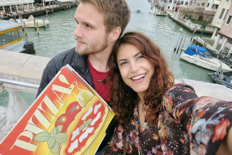 Deborah and Christian Ostmo get pizza in Italy, while developing their perfect relationship
